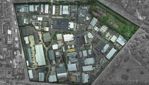 Arial view of SWBA Industrial Park